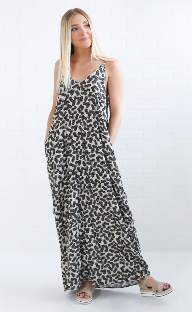 pineapple express maxi dress