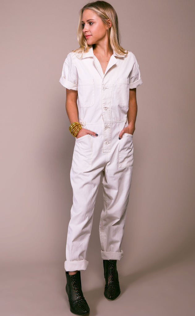 pistola: grover field suit - antique white