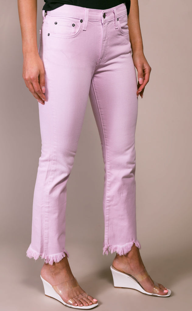 pistola: lennon high rise crop boot jeans - melrose