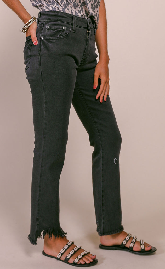 pistola: lennon high rise crop boot jeans - lombardi