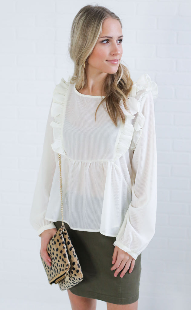 places to go ruffle top