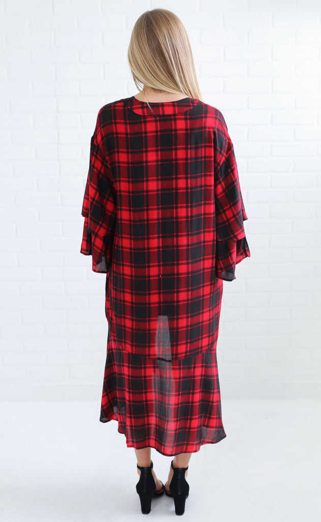 plaid party woven overlay