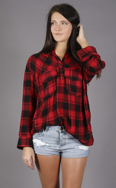 play for keeps plaid tunic