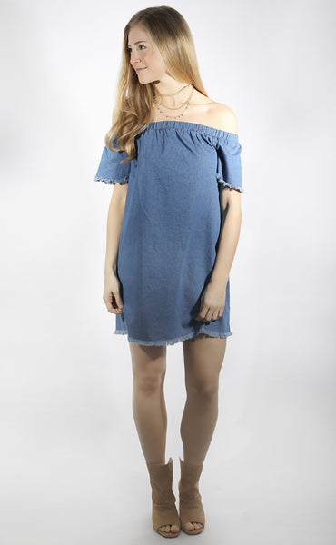 play it cool denim dress
