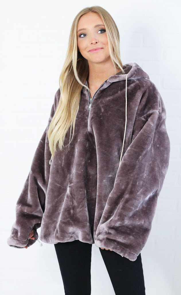 plush hour fuzzy pullover