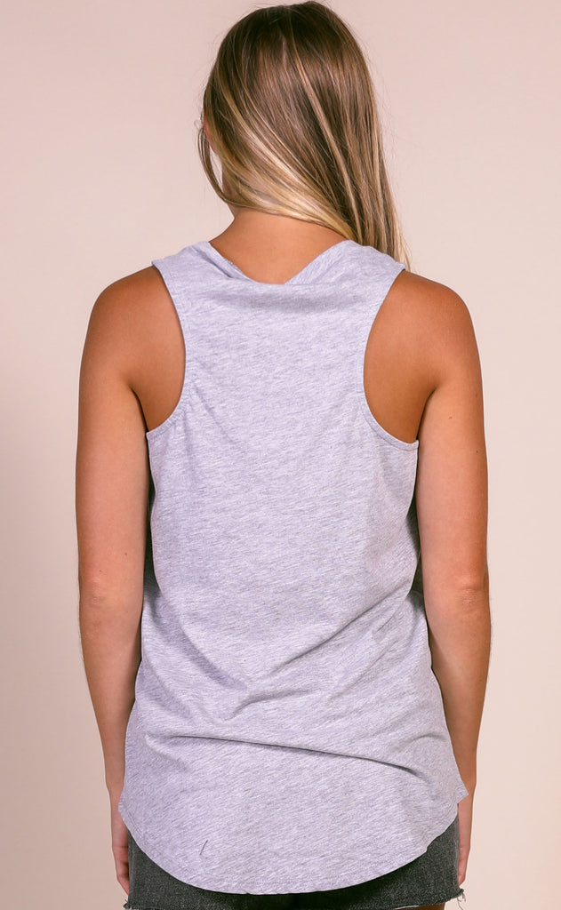 z supply: the pocket racer tank - heather grey burnout