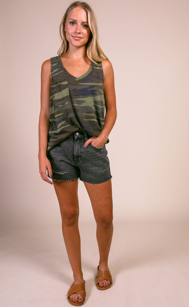 z supply: the camo pocket racer tank - camo green
