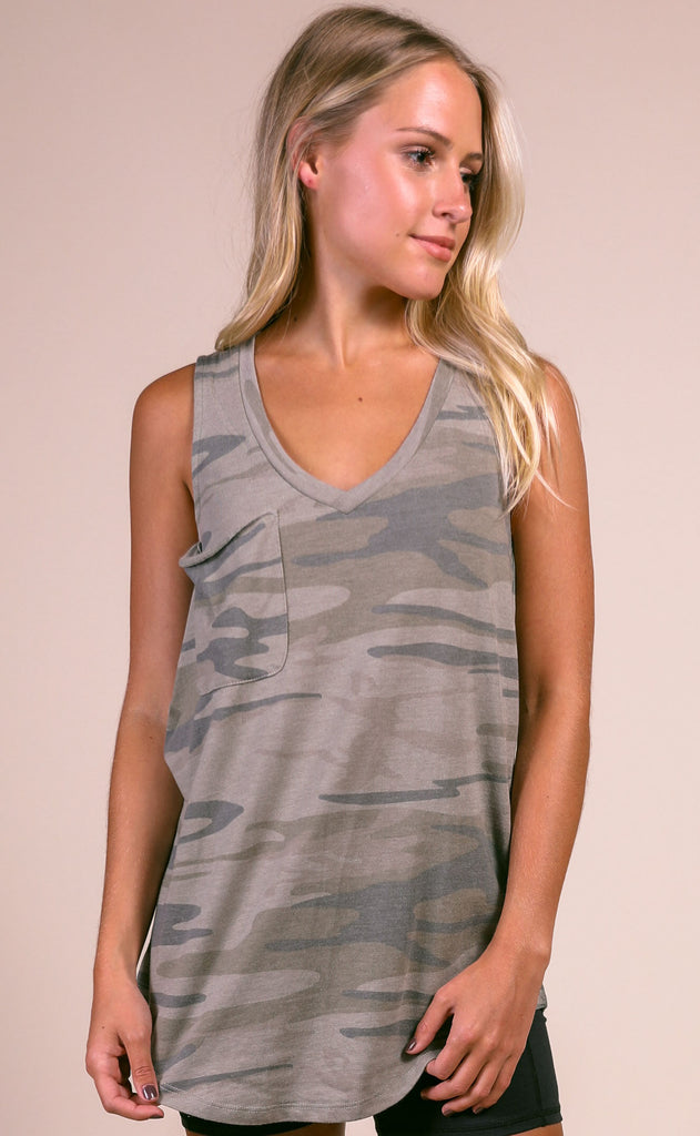 z supply: the camo pocket racer tank - camo light sage