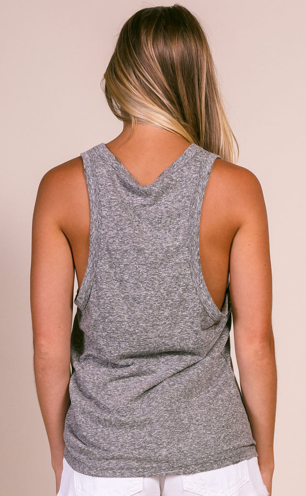 z supply: the racer tank - washed black