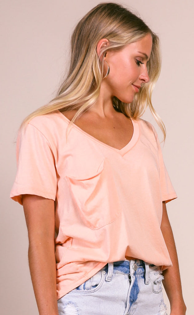 z supply: the pocket tee - apricot