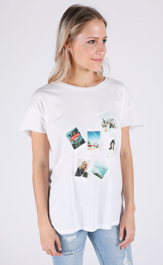 charlie southern: western dreams polaroid t shirt