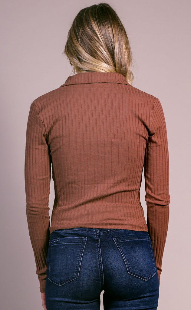 polo lounge ribbed top - mauve