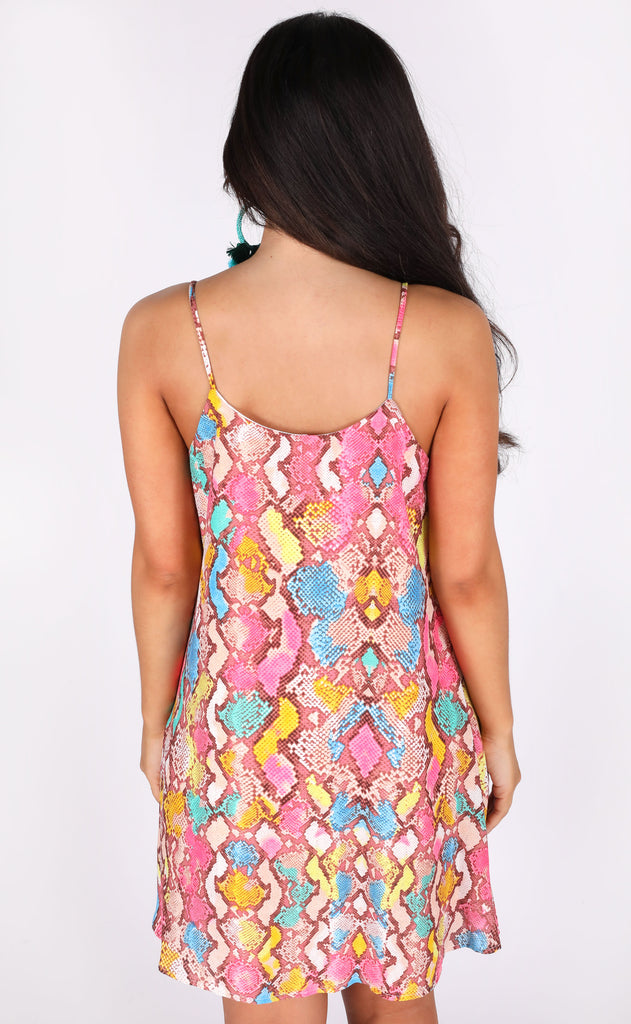 popsicle python printed dress