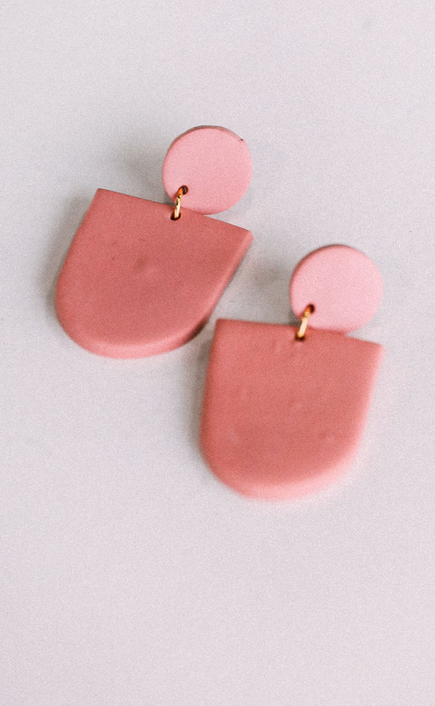 poppy dot: the myra earring - rose