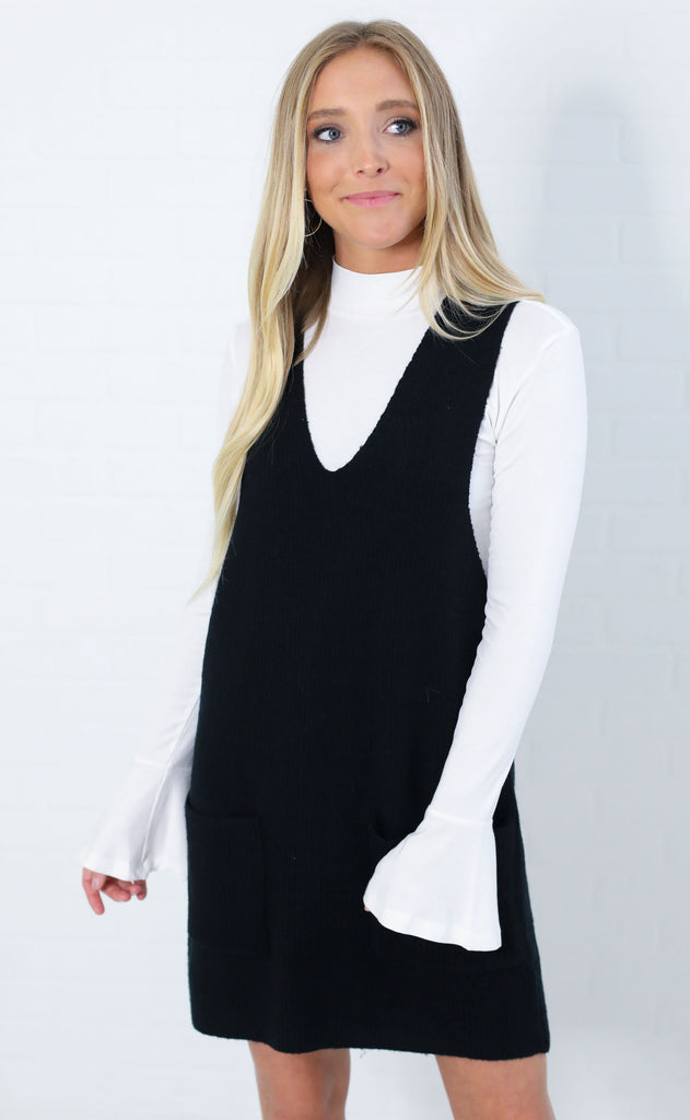 prep school sweater dress