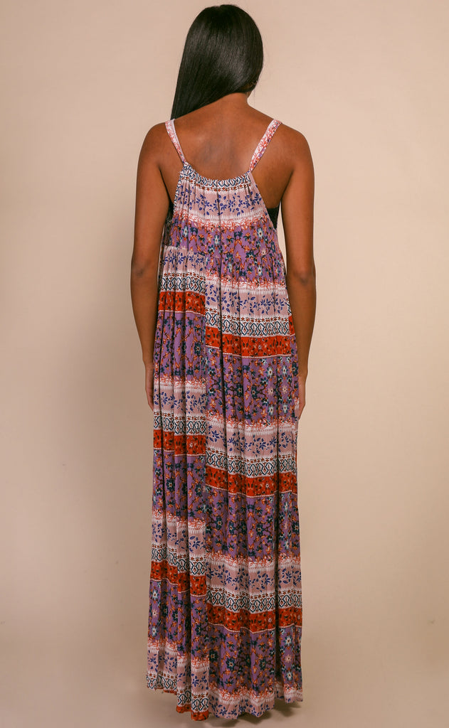 prints on prints maxi dress