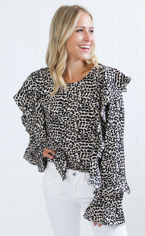 purrfect ruffle top