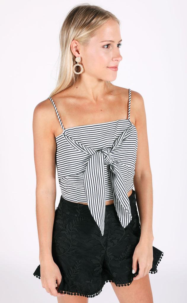 put a stripe on it crop top