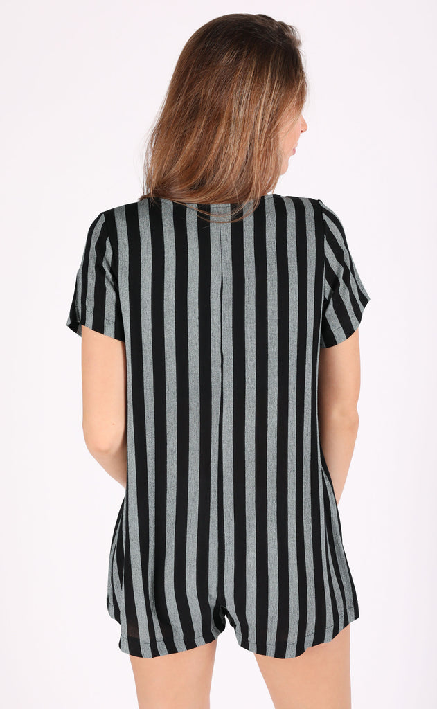 race me striped romper
