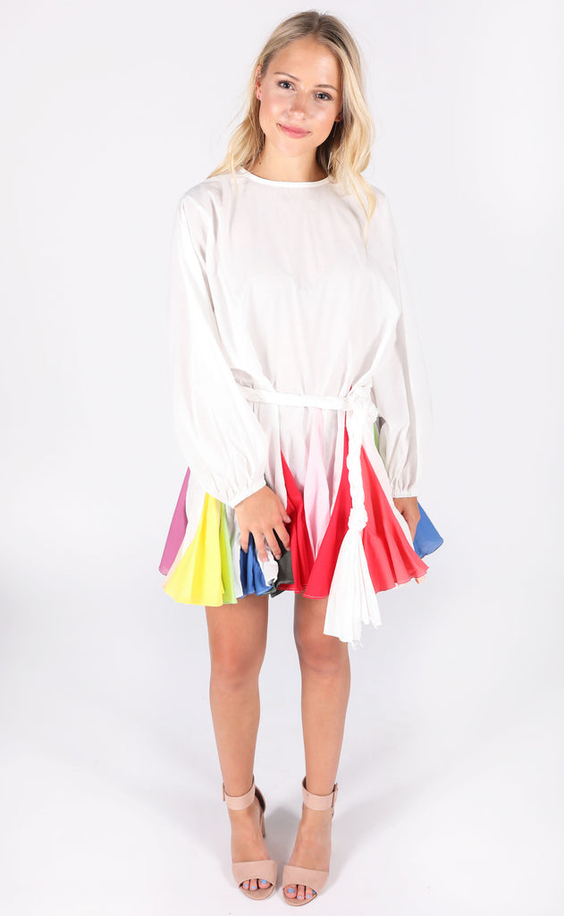 rainbow parade mini dress
