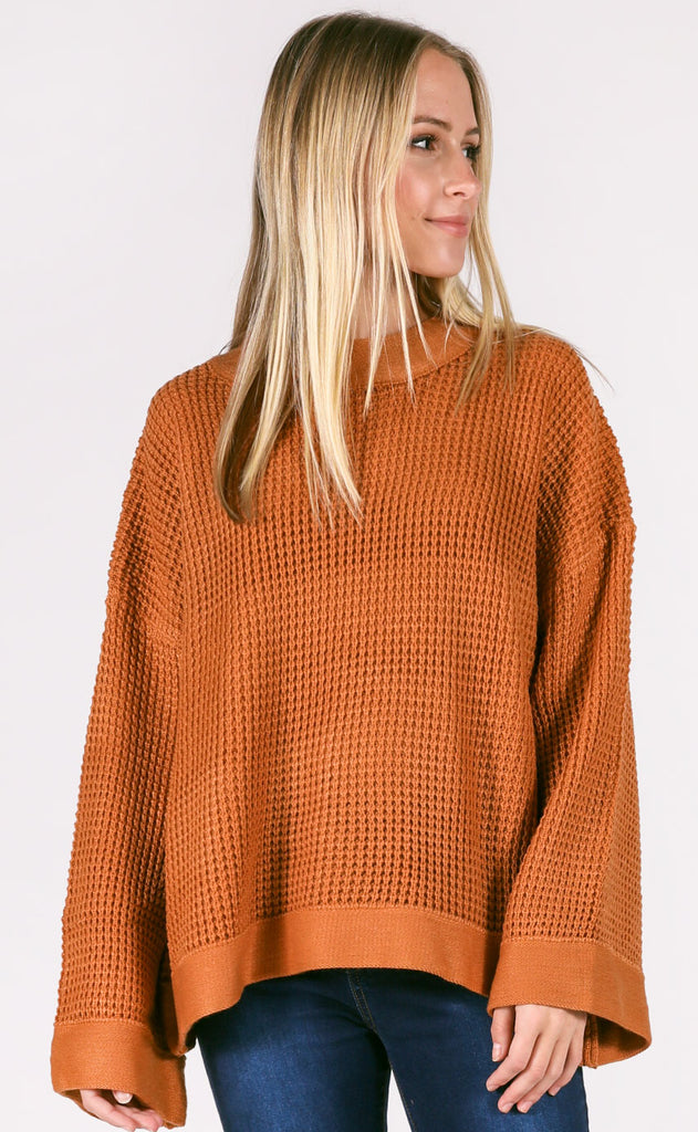 rainy nights knit sweater - butterscotch