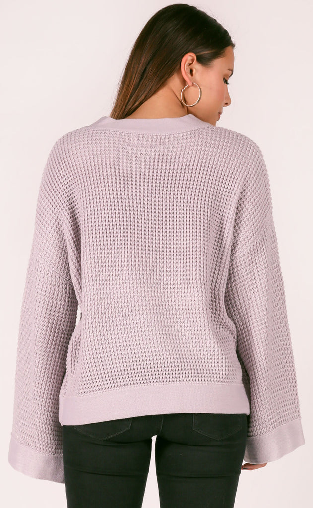 rainy nights knit sweater - stone