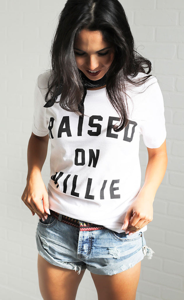 charlie southern: raised on willie t shirt