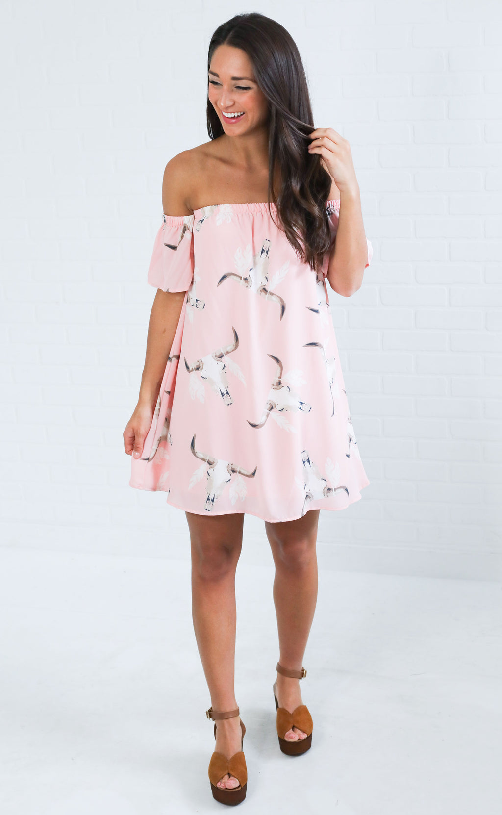 rancho mirage off the shoulder dress