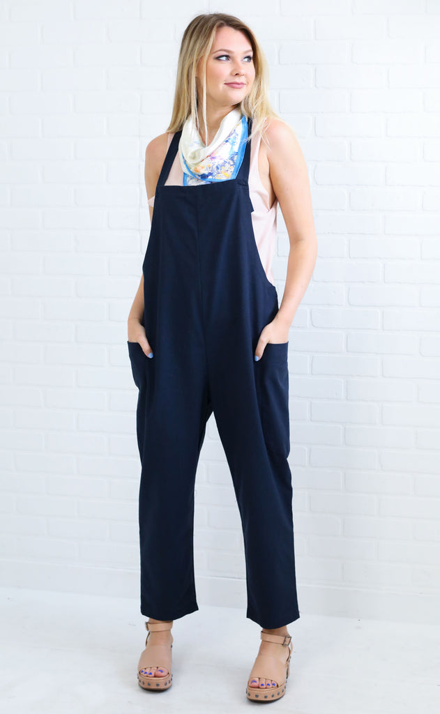 ready to go overall jumpsuit - navy