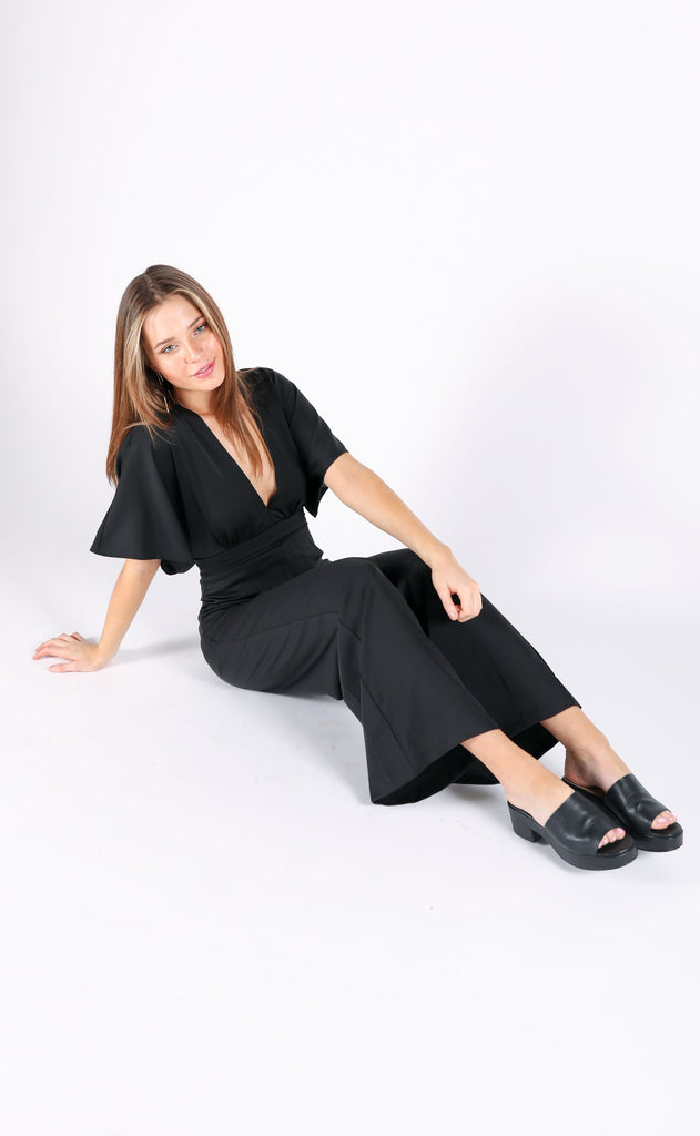 ready to party v-neck jumpsuit
