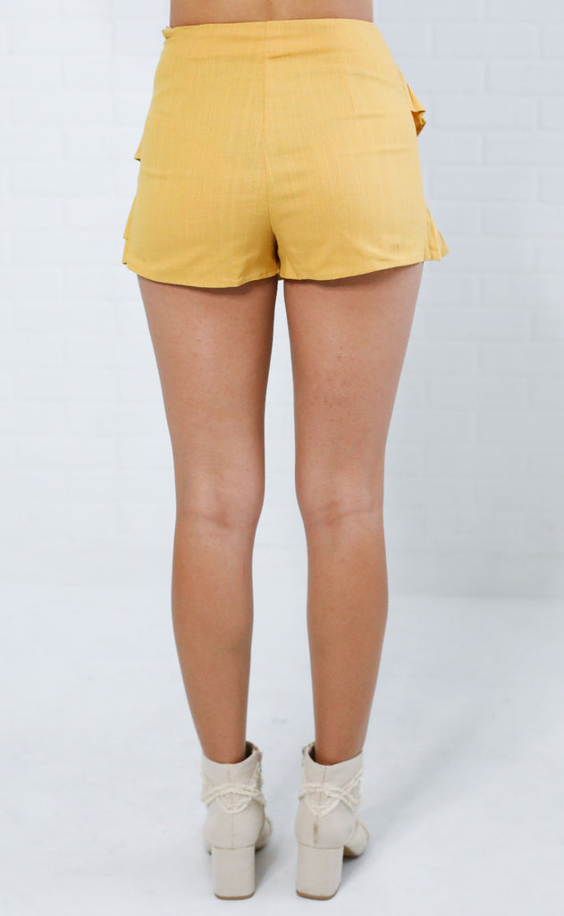 ready to ruffle skort - mustard