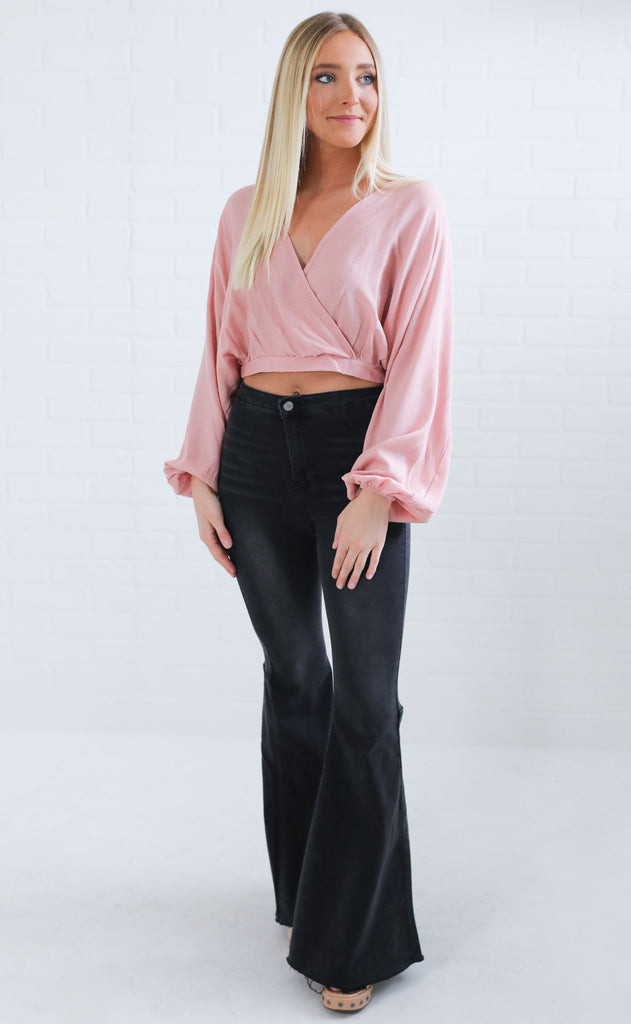resort ready crop top - pink
