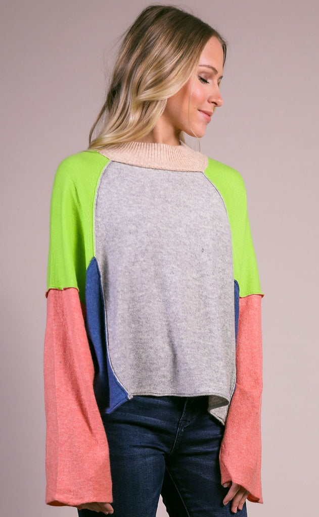 rewind colorblocked sweater