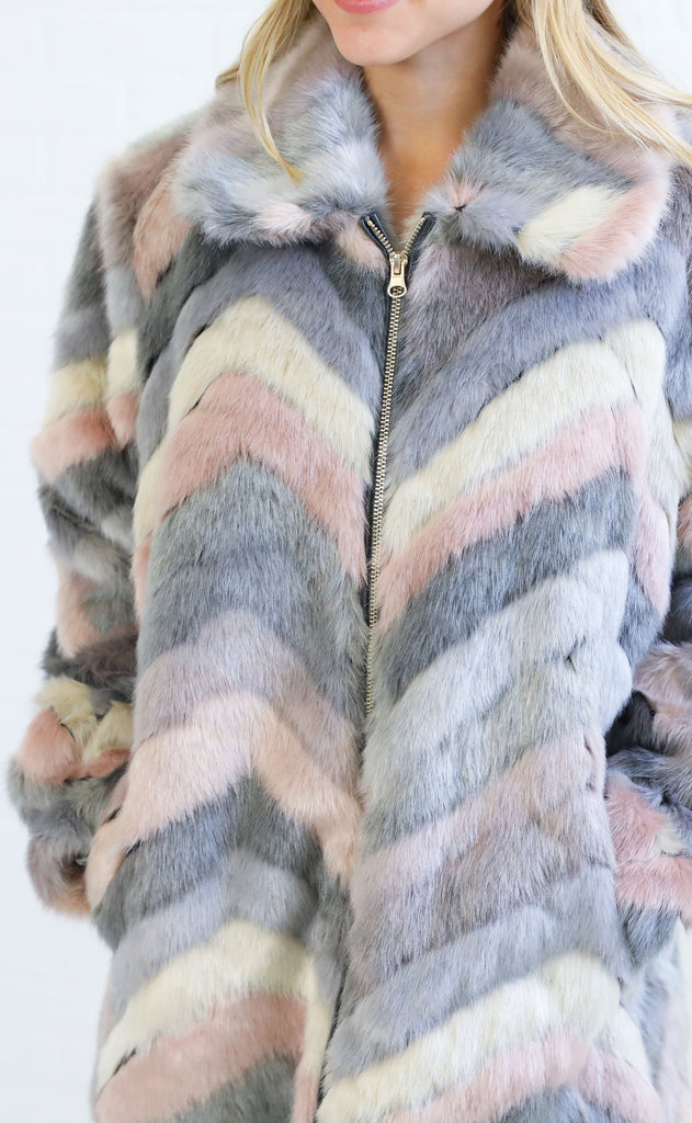 show me your mumu: ricci jacket - girl talk faux fur