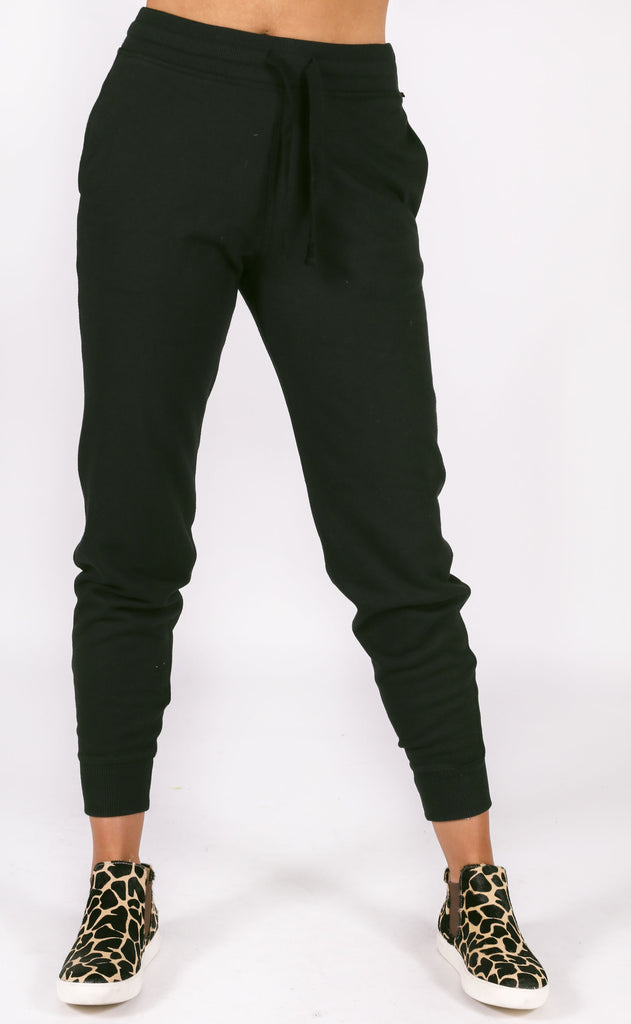 richer poorer: basic sweatpant - black