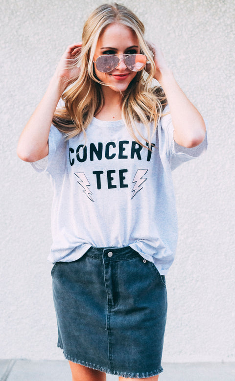 friday + saturday: concert tee slouchy t shirt