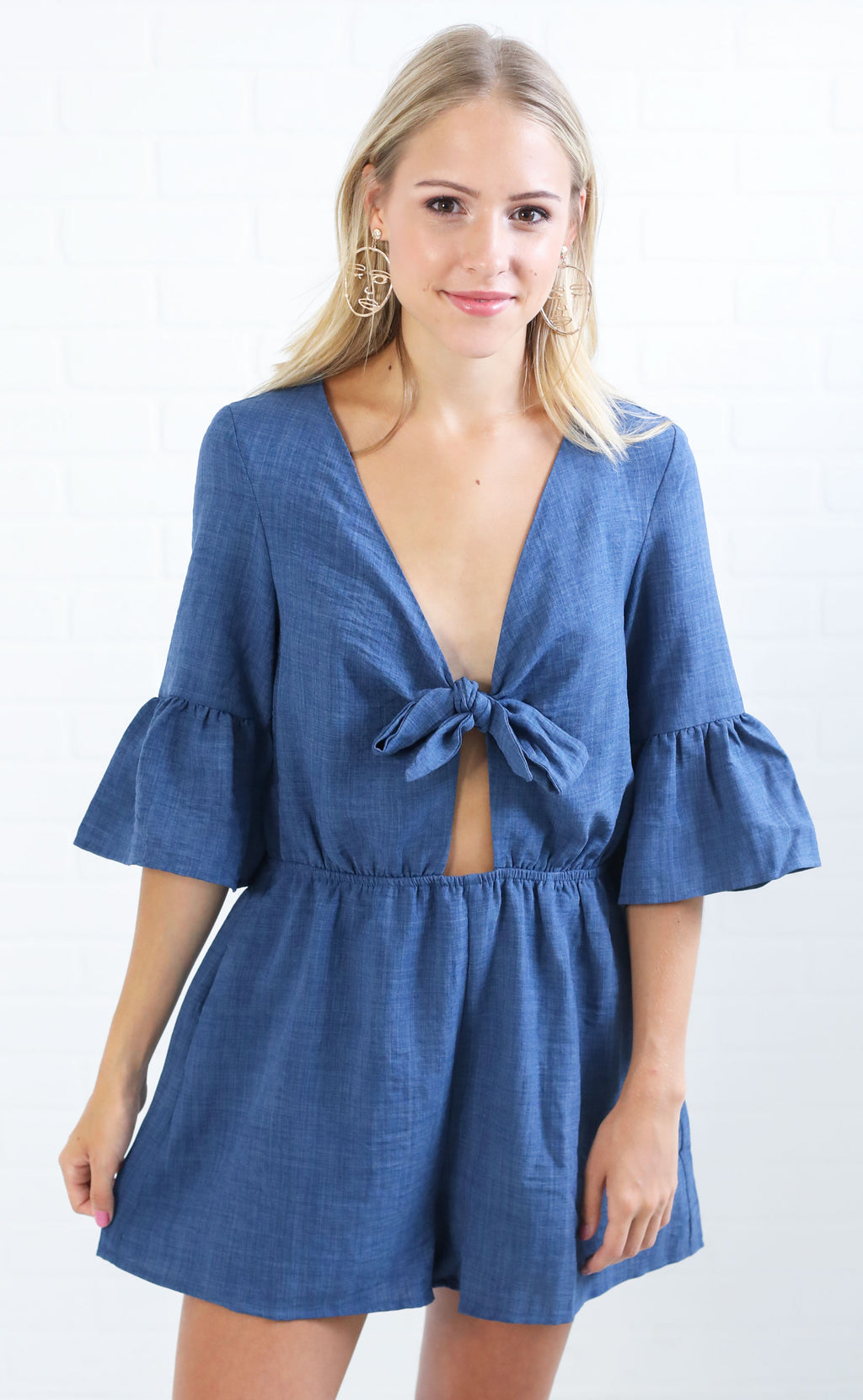 ring a bell knotted romper