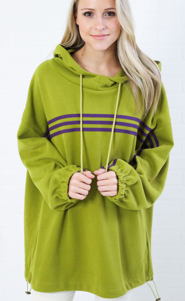 rise and shine knit hoodie