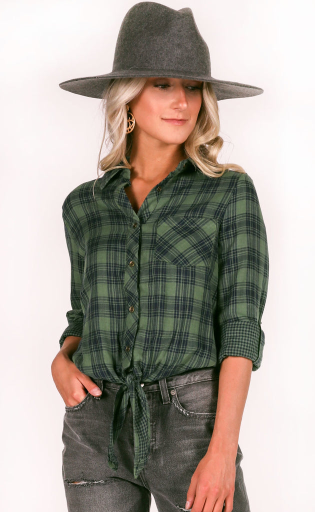rocky mountains plaid top