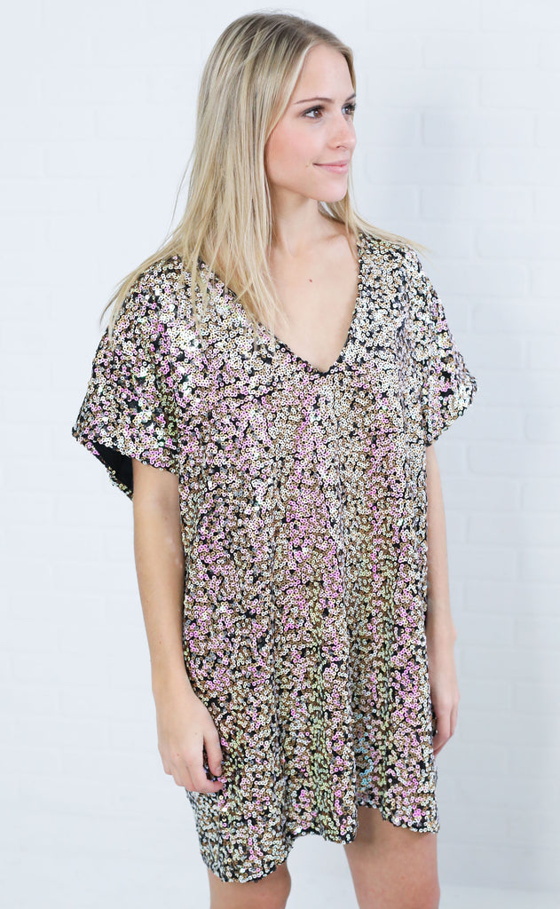 roller disco sequin dress