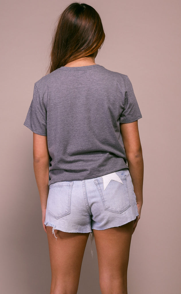 richer poorer: boxy crop tee - grey