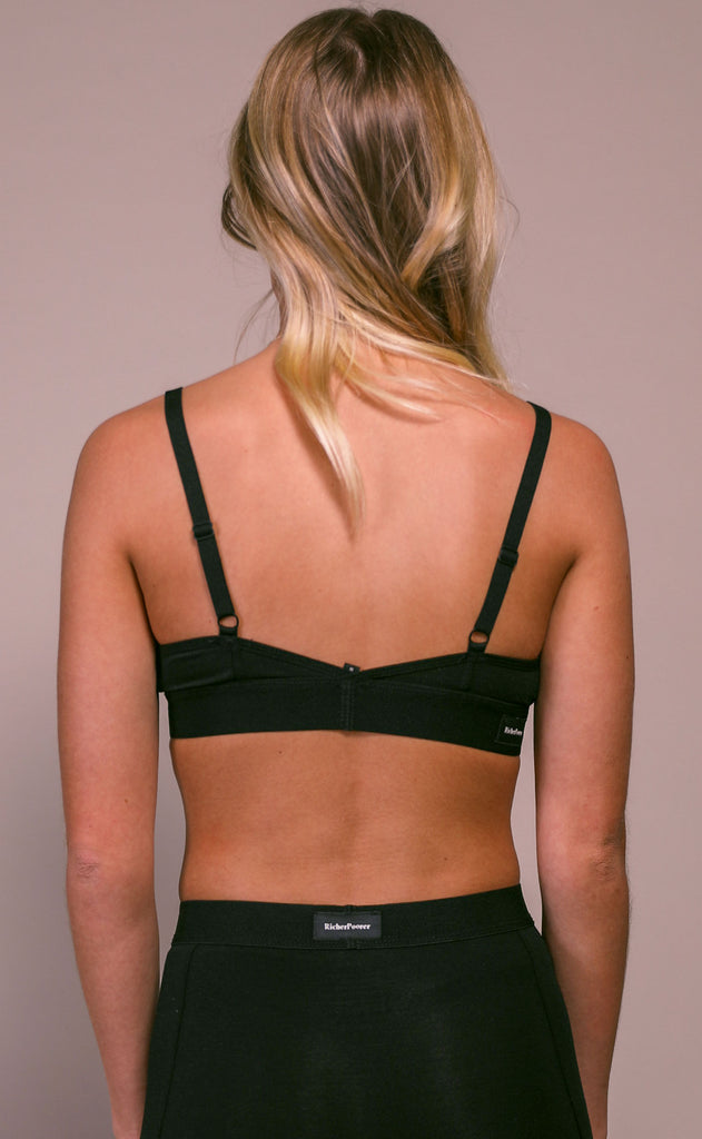 richer poorer: classic bralette - black