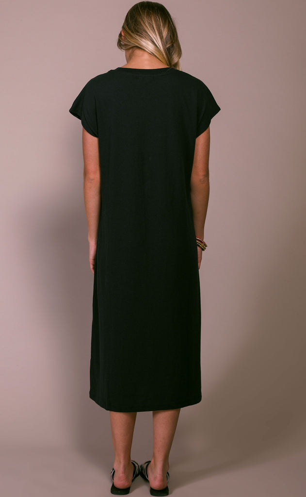richer poorer: easy dress - black