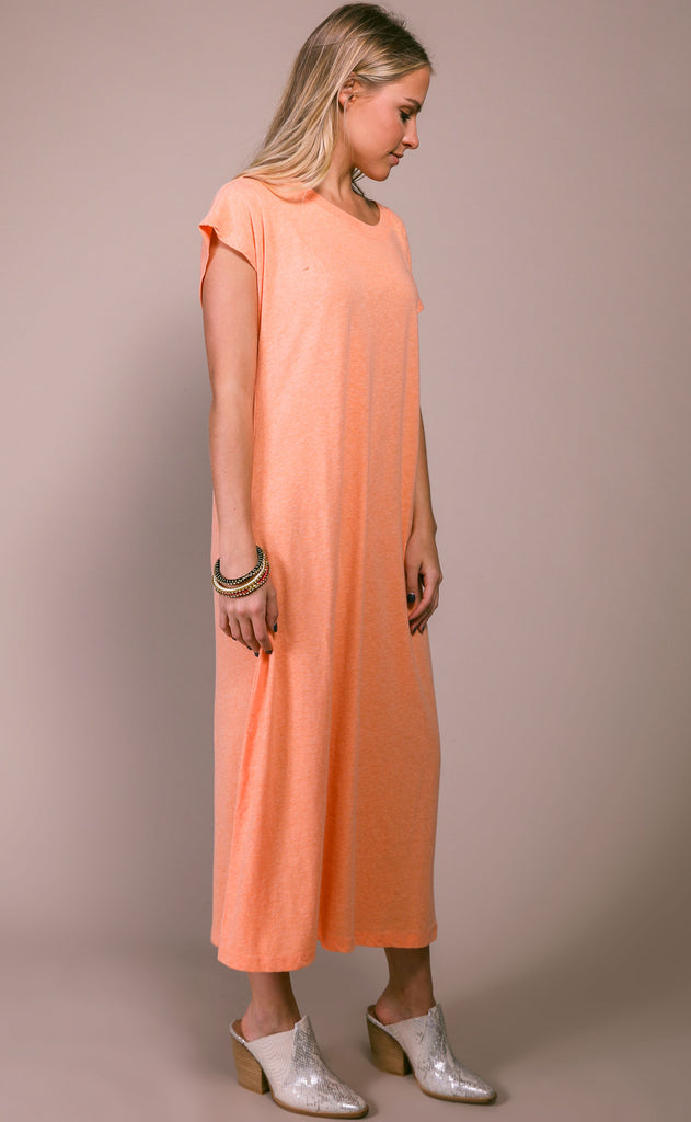 richer poorer: easy dress - cantaloupe