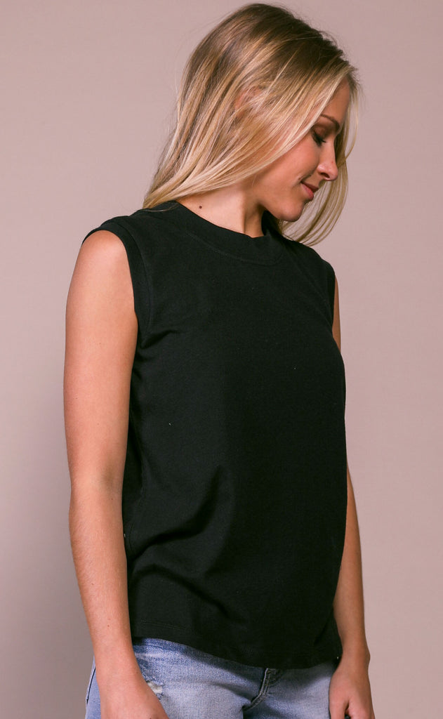 richer poorer: easy tank - black