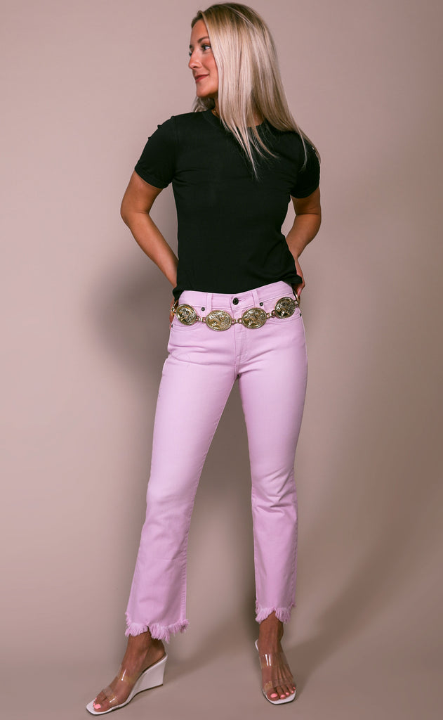 pistola: lennon high rise crop boot jeans