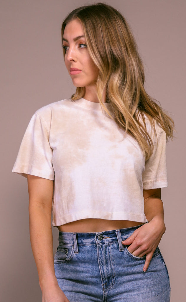richer poorer: short sleeve crop - washed out