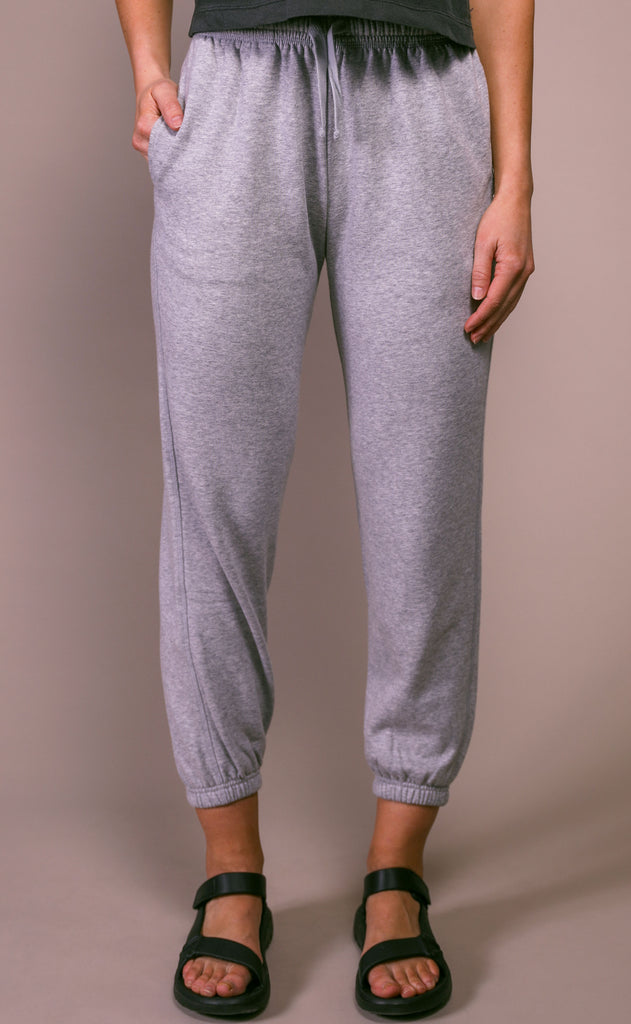 richer poorer: sweatpant - light heather gray
