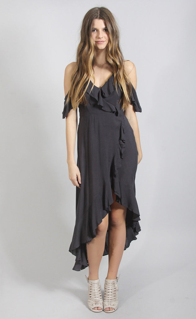 ruffled up wrap dress