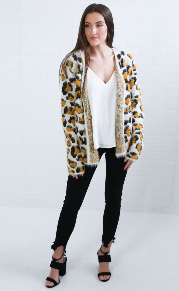run wild knit cardigan - mustard